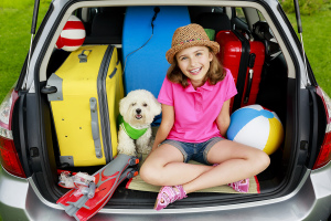 Summer holiday, Travel - family ready for the travel for summer, car insurance